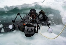 Diving in the Arctic Circle.